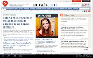 Screenshot of La Prensa (España)