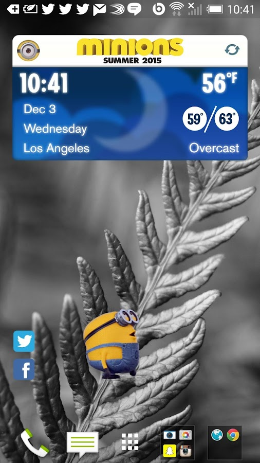 Minions Weather Widget- screenshot