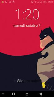 Bat Super Hero Passcode or pattern Lock Screen - náhled