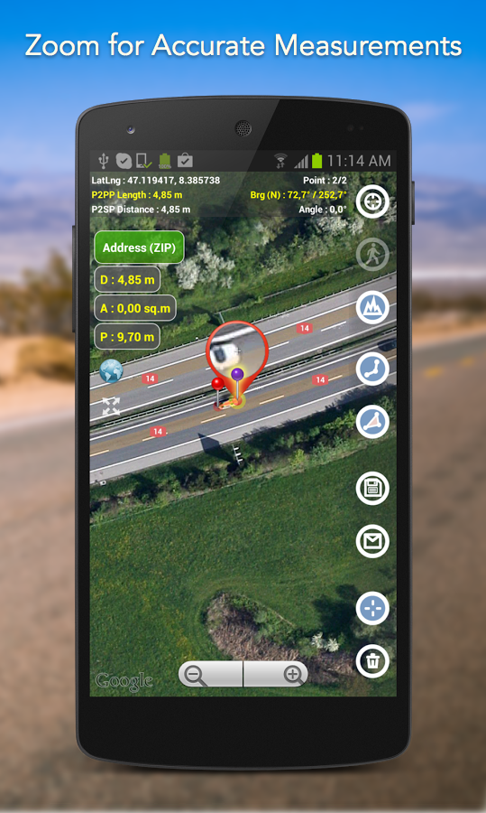 Planimeter - GPS area measure screenshot #20