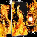 Fire flames live wallpaper icon