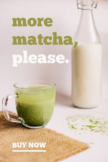 More Matcha Please - Pinterest Pin template