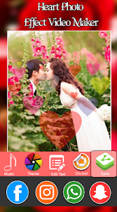Heart Photo Effect Video Maker - Slideshow Maker - náhled