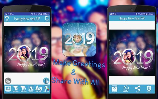 Happy New Year 2019 - PIPPhotoFrames 1.0 screenshots 8