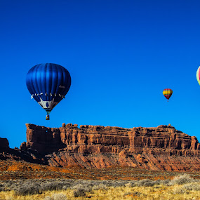 Color over Color by Josh Ewing - Landscapes Deserts ( utah, hot air balloons )