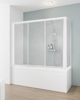 Pare-baignoire avec porte coulissante