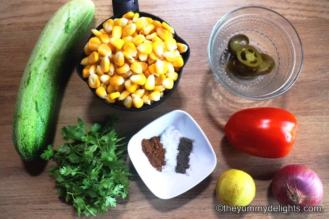 image of ingredients to make fresh corn salsa
