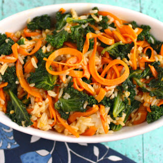 Kale And Sweet Potato Stir-fry With Orange Sauce