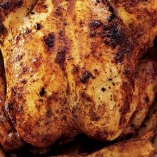 Honey-Basted Chicken with Chile-Roasted Potatoes