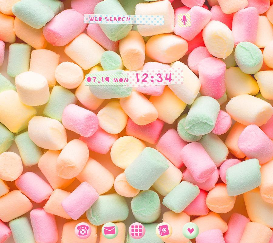 Marshmallow Wallpaper: Wallpaper-Pastel Marshmallows-