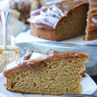Healthy Apple Cake with Caramel Frosting.