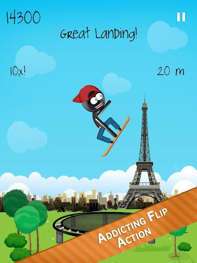 Stickman Trampoline FREE Backflip Jump Flip Master modavailable screenshots 7
