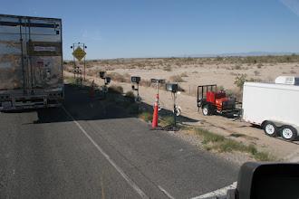 Photo: Imigration Contol mit High Tech mitten auf dem Freeway, die Mexikaner stört es wenig, sie schaffen es trotzdem