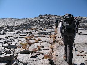 Photo: we walked over granite blocks