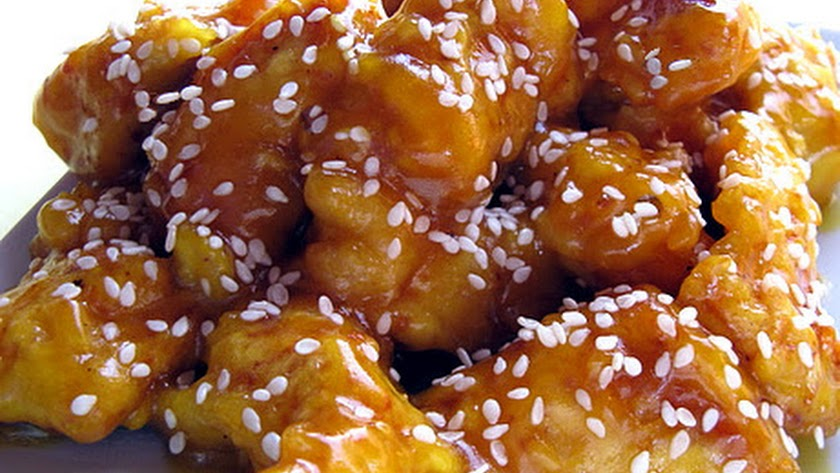 Pollo a la miel.