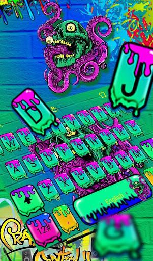 Zombie Skull Graffiti Keyboard Theme 6.5.9 screenshots 1