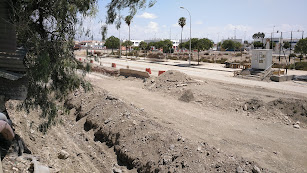 Imagen de las obras del soterramiento en el barrio de El Puche facilitada por la Mesa en Defensa del Ferrocarril.