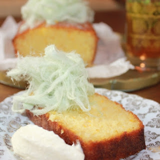 Semolina, Coconut and Marmalade Cake with Orange Blossom Syrup.