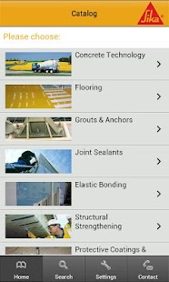 Sika Product Finder- screenshot thumbnail