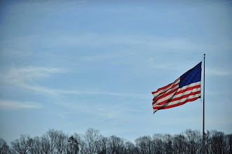 Photo: RIDGEWAY, VA - APRIL 07:  An American flag is flown prior to the NASCAR Sprint Cup Series STP Gas Booster 500 on April 7, 2013 at Martinsville Speedway in Ridgeway, Virginia.  (Photo by Jamey Price/Getty Images)