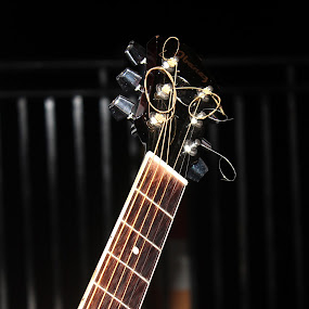 Guitar  by Pathum Herath - Artistic Objects Musical Instruments ( cool, music, classical, artistic, guitar, strings, youth, tune, black )
