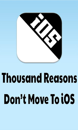 Don't Move To iOS