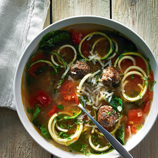 Chicken Zucchini Wedding Noodle Soup.