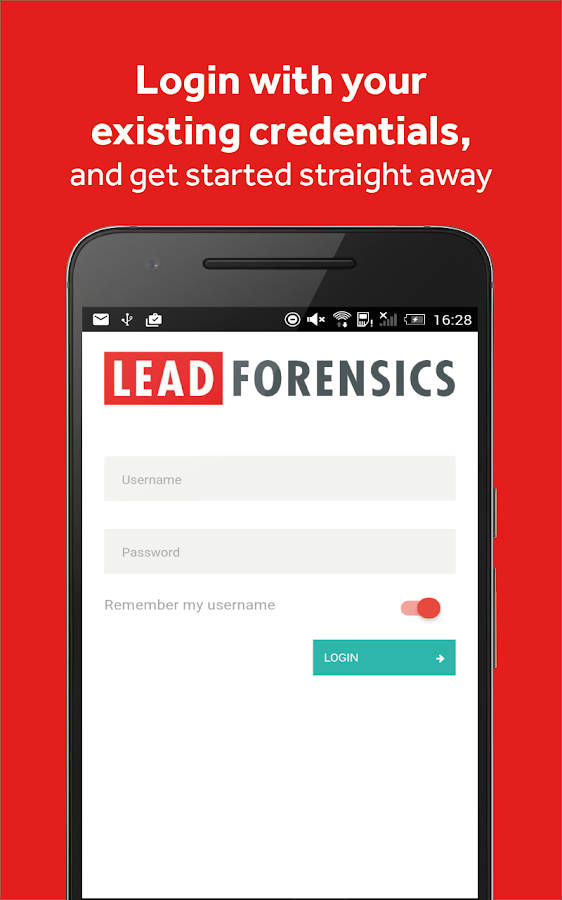 Lead Forensics- screenshot