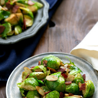 Brussels Sprouts with Bacon & Almonds