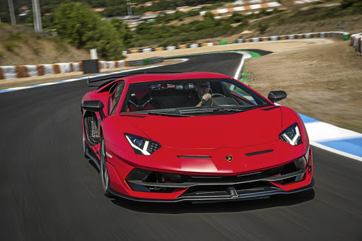 FIERY: The SVJ badge denotes the sportiest of Lamborghinis, and this Aventador gets 566kW of track-taming power. Picture: SUPPLIED
