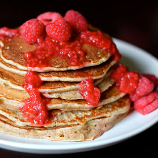 Buckwheat Pancakes with Berry Sauce