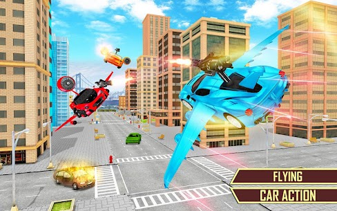 Flying Car Transformation Robot Wars Car Superhero 4