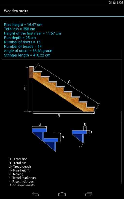 Fast Stairs Calculator Screenshot