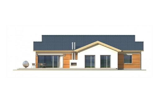 Agatka wersja A dach 22 stopnie - Elewacja tylna