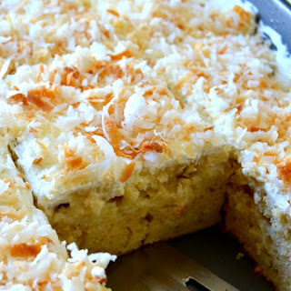 Triple Coconut Poke Cake.