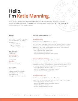 Katie T. Manning - Resume item