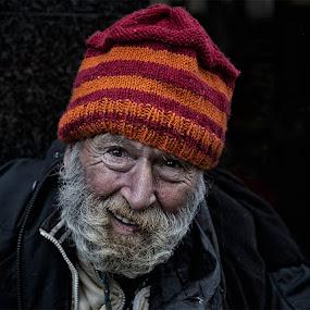Alan by Karen Shivas - People Street & Candids ( orange, red, street, beard, man, hat )