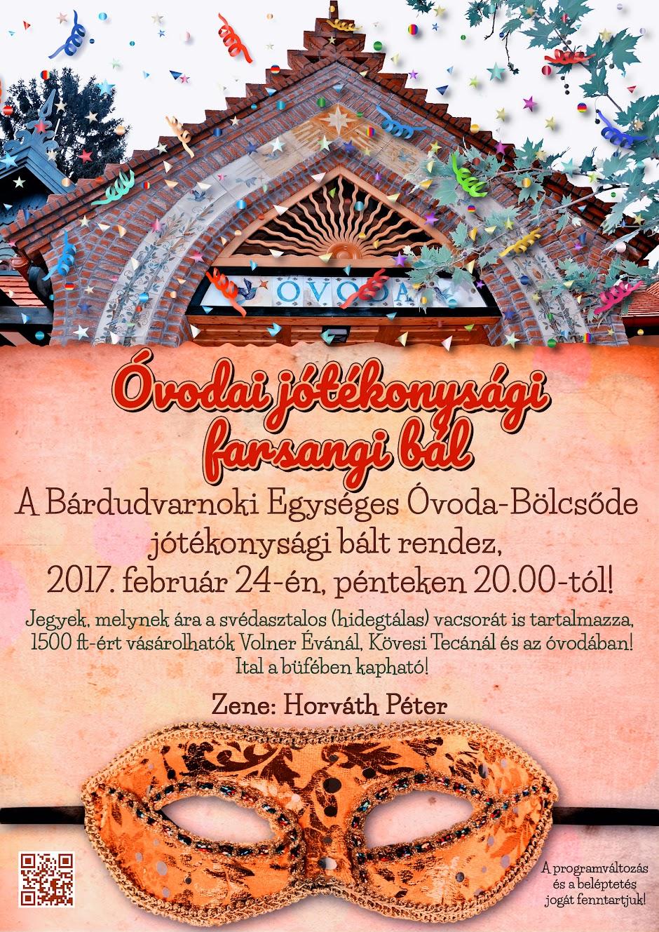 Óvodai jótékonysági bál plakát 2017