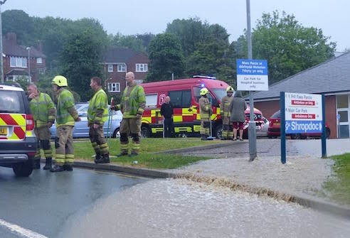 Flooding closes Minor Injuries Unit