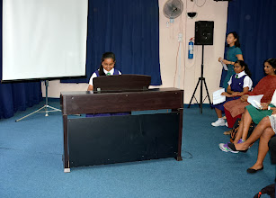 Photo: Kowsalya entertaining the audience two pieces of music.
