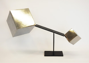 Photo: TRIUMPH OF SMALL - 18H X 31W X 12D Polished and Painted Mild Steel and Lead, Interactive Kinetic, Alternate View