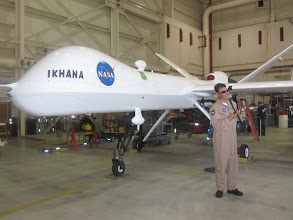 Photo: Research Pilot Herman Posada with the Ikhana MQ-9