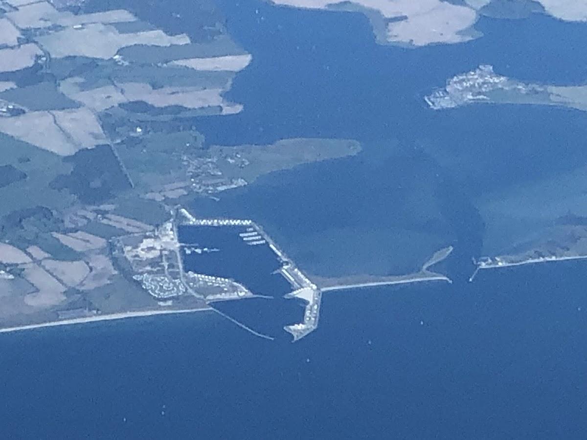 Port Olpenitz aus 10km Höhe