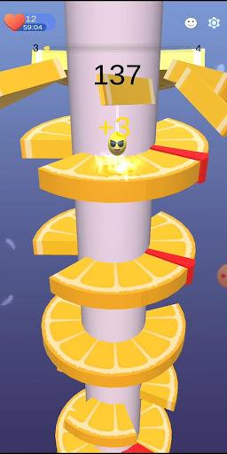 Imágenes de Orange Ball Helix Jump 2