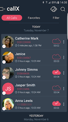 Call Recorder - Automatic Call Recorder - callX Screenshot