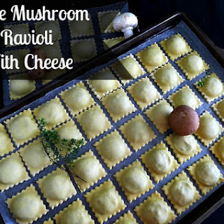 Triple Mushroom Ravioli with Cheese.