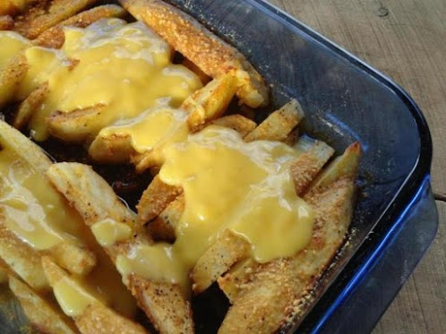 Recipe Here: Cheesy Oven Fried Potatoes