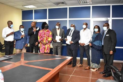 Representatives from Liberia's government and from TRACOM. Photo courtesy TRACOM.