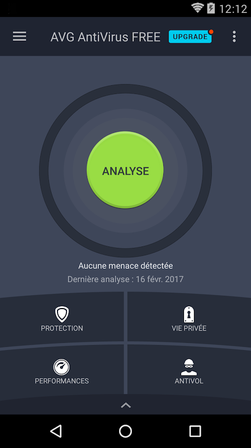 AVG Antivirus Android Gratuit 2017 – Capture d'écran