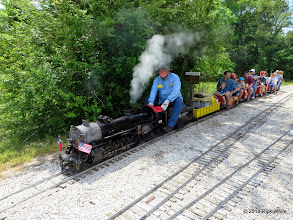 Photo: Engineer Pete Greene leaving East Sumrall at 11:59 AM     HALS Public Run Day 2014-0419 RPW
